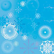 Winter Background Illustration, Vector Snow Flakes