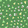 Winter Christmas Seamless Pattern On Green Background stock vector