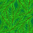 Winter Fir Green Branches Seamless Pattern. Christmas Background