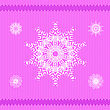 Winter Knitted Pink Pattern. Textile Fabric Background stock illustration