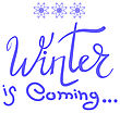 Winter Typographic Poster. Hand Drawn Phrase. Lettering On White Background
