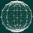 Wireframe Polygonal Element. 3D Sphere With Lines And Dots. Vector Illustration
