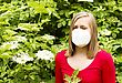 Woman Allergic To Elder Pollen, Sneezing From It stock photo