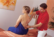 Woman Getting Back Massage stock image