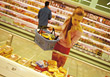 Woman Grocery Shopping stock photography