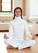 Yoga Woman Meditating stock photo