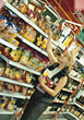 Woman Shopping For Groceries stock photography