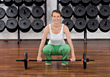 Woman Weight Lifting stock photography