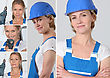 Women Laborer stock photography