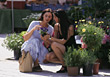 Women Shopping For Plants stock image