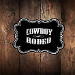Wooden Background With Wild West Styled Label stock illustration