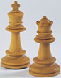 Wooden Chess King & Queen
