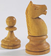 Wooden Chess Knight & pawn