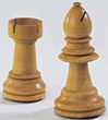 Wooden Chess Rook & Bishop