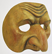 Wooden Face Mask stock photo