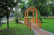 Tver Wooden Summerhouse In Town Park stock photography