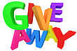 """Word """"Giveaway"""" Made From Multicolored Letters"""