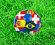 World Cup Football With Nations Flags stock photography