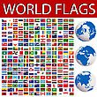 World Flags Collection And Planet Earth