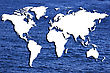 World Map Or A Map Of The World Trimmed Embossed On The Bottom Of A Sea Or Ocean stock illustration