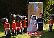 Village WRAY SCARECROW FESTIVAL WILL AND KATE stock photography