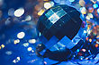 Xmas Ball Bokeh stock photography