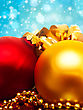 Xmas Decoration Ball Over Abstract Golden Backgrounds With Beauty Bokeh stock photo