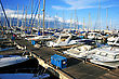 Harbour Yachts In Larnaca Port, Cyprus. stock image