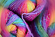 Yarn With A Blur Effect. Bright Colors And Soft Blur stock photo