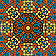 Yellow And Brown Seamless Psychedelic Paisley Background