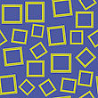 Yellow Frames Isolated On Blue Background. Seamless Pattern