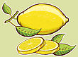 Yellow Fresh Lemons With Green Leaves Isolated For Design