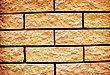 Rectangle Yellow Grunge Texture Of Brick Wall stock image