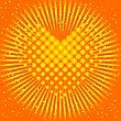 Yellow Heart From Balls And The Sun Behind It
