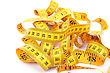 Yellow Measuretape stock photography