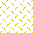 Yellow Ribbons Seamless Pattern On White. Banner Background