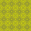Yellow Seamless Texture. Element For Design. Ornamental Backdrop. Pattern Fill. Ornate Decor For Wallpaper. Traditional Decor On Background