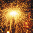 Yellow Sparklers, Close-Up stock image