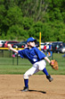 young baseball player getting ready to pitch