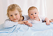 Young Boy & Baby stock photography