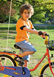 Young Boy on Bicycle stock photography