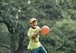 Young Boy With Ball stock image