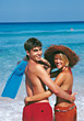 Young Couple on Honeymoon stock image
