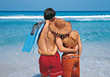 Young Couple on Tropical Vacation stock photo