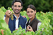 Young Couple Proud Of Their Vineyard stock photography