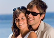 Young Couples Outdoors With Sunglasses stock image