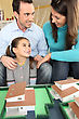 Young Family Planning Their New House stock image