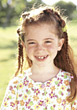 Young Girl With Freckle Smiling stock photography