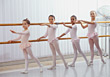 Young Girls Learning Ballet stock photo