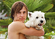 Young Man and Dog stock photography